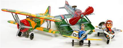 Vintage Tin Metal Toy Planes 4 Mar and Others
