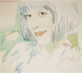 Margo St. James Watercolor by Jessel Miller