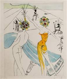 Salvadore Dali [Les Femmes Fleurs Au Piano] COA