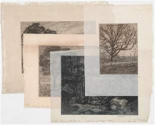 Will J. Quinlan (4) Etchings [Trees]