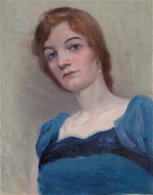 Frederick Kress Oil on Canvas [Woman Portrait]