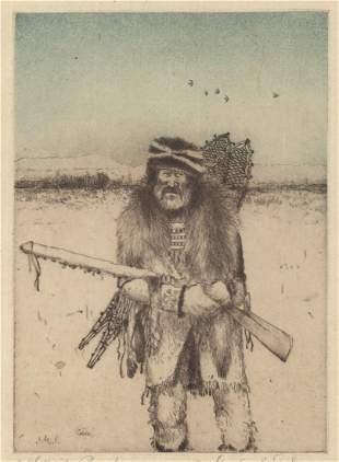 Michael Coleman Etching [Trapper, Woodsman]
