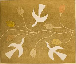 Mirelle Kramer Embossed Etching [Birds]