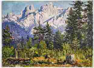Frederick B. Kress Oil on Canvas [Castle Crag]