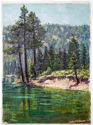 Frederick B. Kress Oil on Canvas [Sierras]