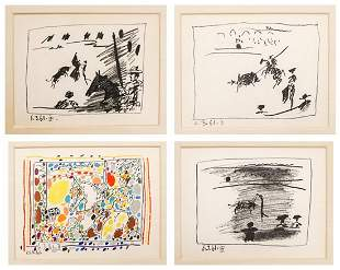 Picasso Set of Framed Prints (4)