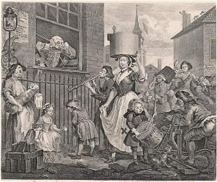 William Hogarth Engraving [Enraged Musician]