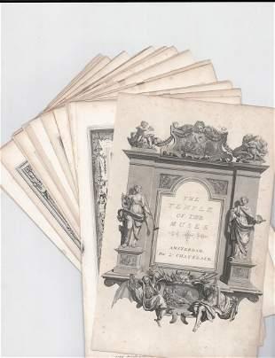 """Picart """"Temple des Muses"""" Book Plates [Mythology]"""