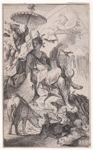 Early U. S. Engraving [Woman, Parasol]