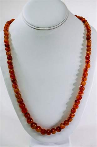 Vintage Agate Bead Necklace