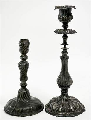 Knickerbocker Silver and Silverplate Candlesticks