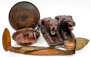 Vintage Wood and Metal (7) Assorted