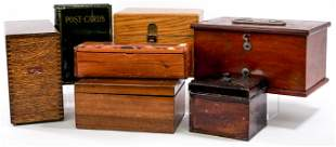 Vintage (7) Small Wood and Metal Boxes