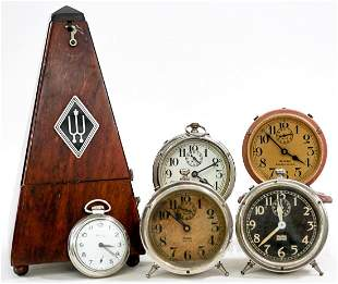 Vintage (6) Metronome and Clocks
