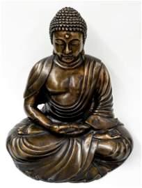 Life-size 20th Century Bronze Buddha Statue