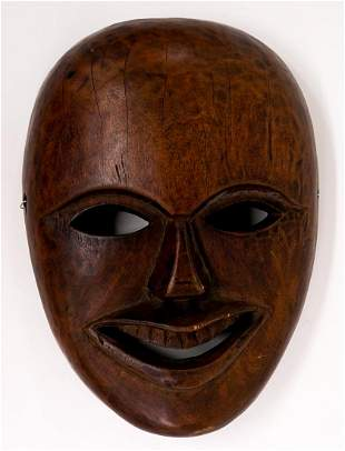 Vintage Carved Wood Mask