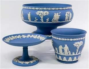 Wedgwood (3) Blue Jasperware Assortment