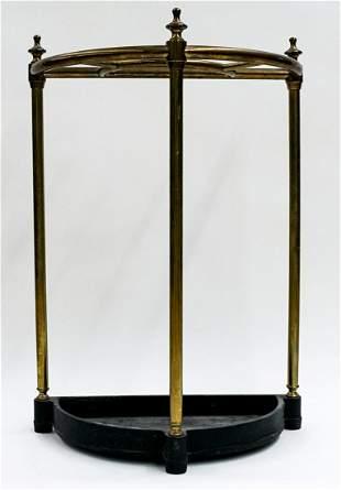 Vintage Iron & Brass Umbrella Stand