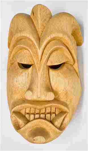 Carlos Rojas Arte Indigena Wood Mask 1996