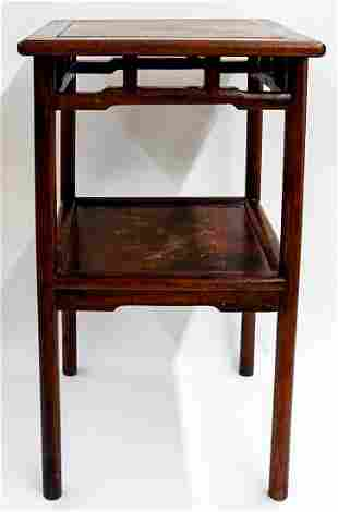 Antique Chinese Wood Side Table