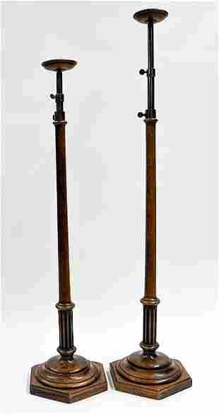 Pair Country Store Adjustable Hat Stands