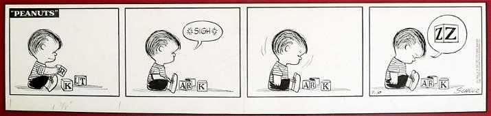 Charles Schulz Original Daily Strip 1954 Linus