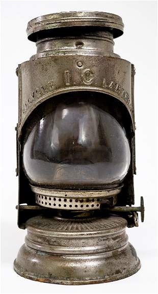 Antique 1897 Bristol Brass Bicycle Lantern