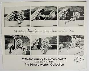 Marilyn Monroe George Barris Signed Poster