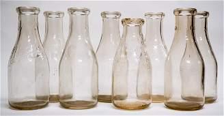 Collection of Vintage Milk Bottles (8)