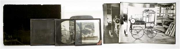 Group of Antique Glass Negatives and Slides
