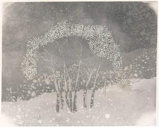 Barbara Hogg (California, 20th century) Etching