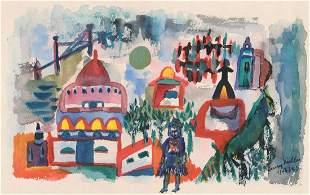 Henry Valentine Miller (1891 - 1980) Watercolor