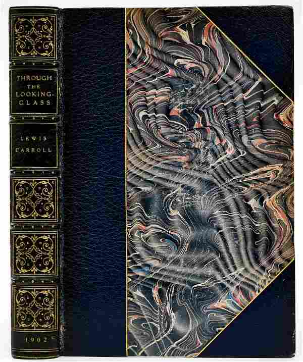Through the Looking Glass 1902 Leatherbound