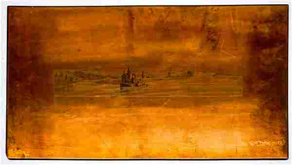 Coxsackie Lighthouse Antique Copper Printing Plate