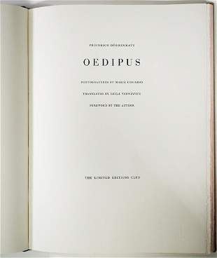Oedipus by Durrenmatt 1989 Limited Signed