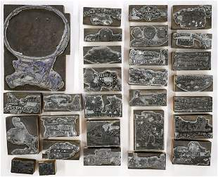 Collection of Vintage Western Printing Blocks