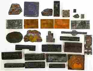 Vintage & Antique Printing Blocks