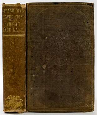 Exploration Great Salt Lakes by Stansbury 1852