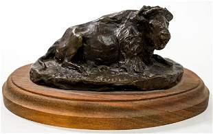 Bob Scriver 'Paul's Bull' Bronze Sculpture
