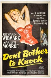 Don't Bother to Knock (Monroe) Movie Poster 1952
