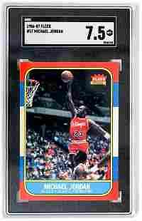 1986-87 Fleer Michael Jordan #57 SGC 7.5