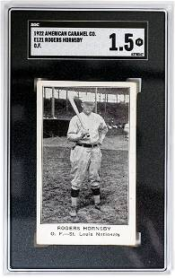 Rogers Hornsby O.F. 1922 American Caramel Co. E121