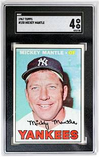 1967 Topps #150 Mickey Mantle SGC 4