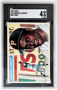 1956 Topps #33 Roberto Clemente Gray Back SGC 4