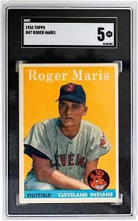 1958 Topps #47 Roger Maris SGC 5