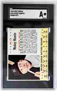 1963 Post Cereal #15 Mickey Mantle (Hand Cut) SGC