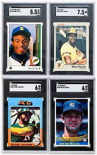 Four SGC Graded Baseball Cards (3) Rookie Cards