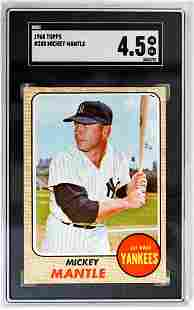 1968 Topps #280 Mickey Mantle SGC 4.5