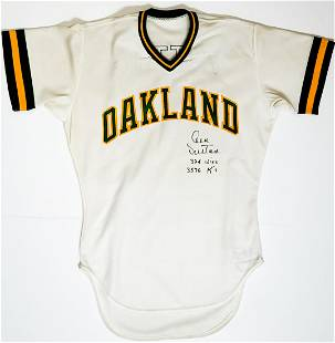 1985 Don Sutton Oakland A's Game-Used Home Jersey
