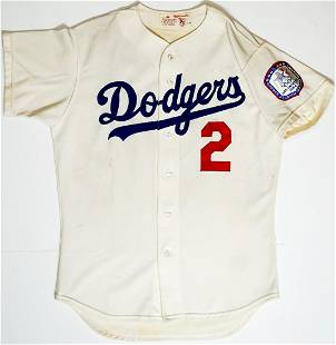 1984 Tommy Lasorda Manager-Worn Home Jersey